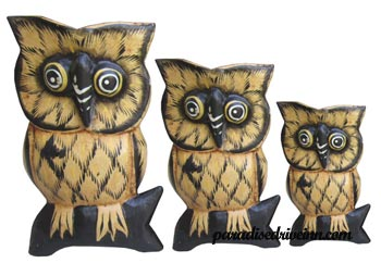 Bali Set of 3 Owls