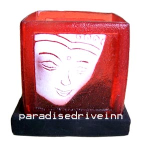 Bali Square resin candle holder