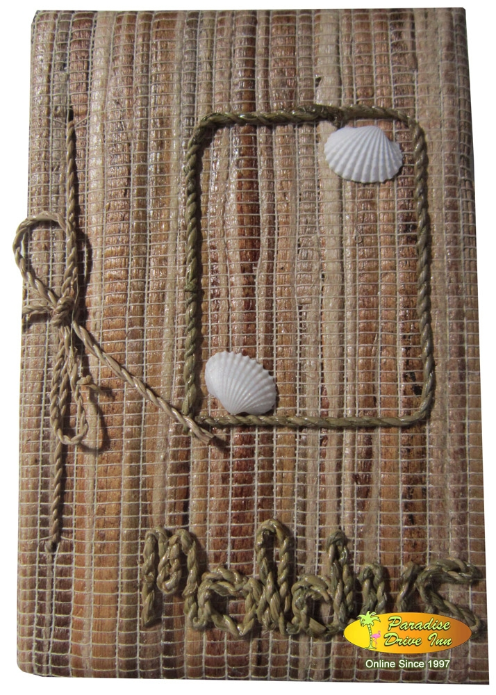 Bali Notebook with water hyacinth