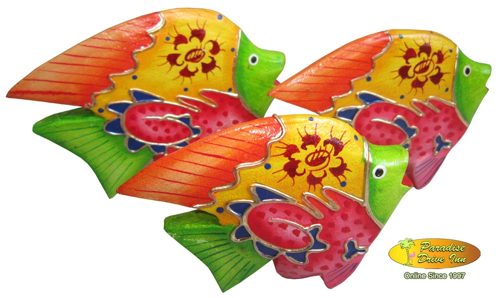 Wholesale bali set of 3 tropical fish handpainting for Wholesale tropical fish