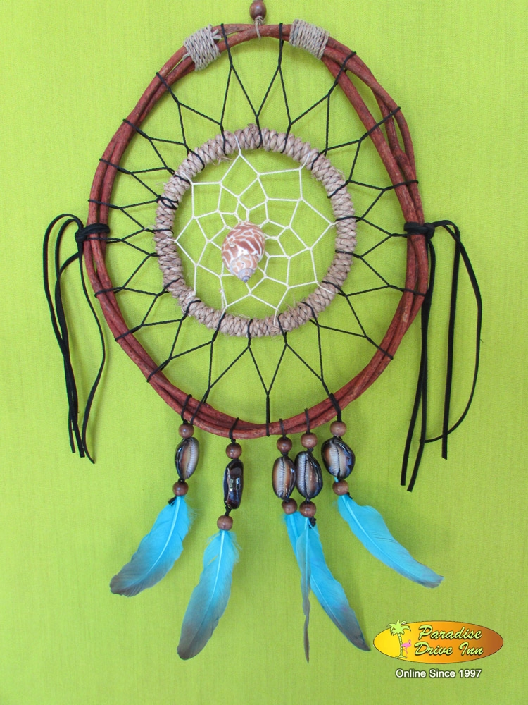 Bali Dreamcatcher, rattan with shell & beads