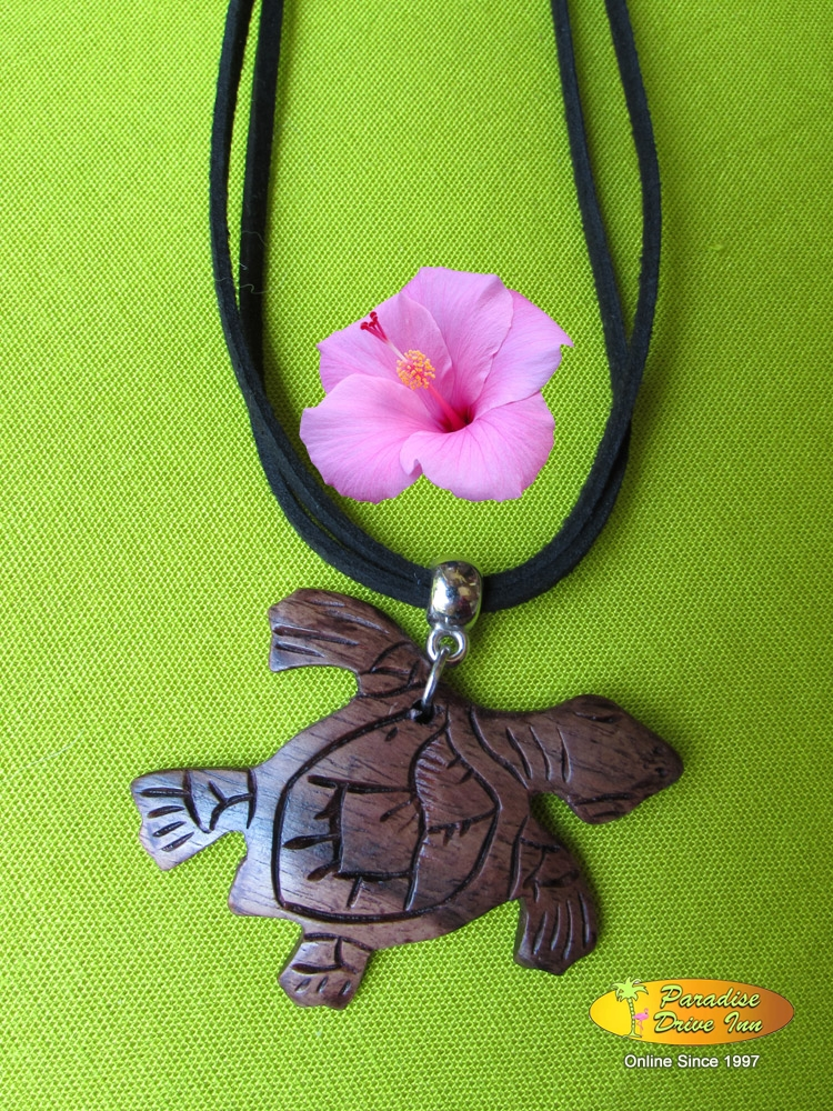 Bali Necklace, sono wood, turtle